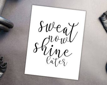 Fitness/work out motivation prints