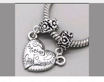 Pandora charms mama mom  mum mother daughter set silver charms for pandora charm jewellery bracelets personalised gift for her necklace