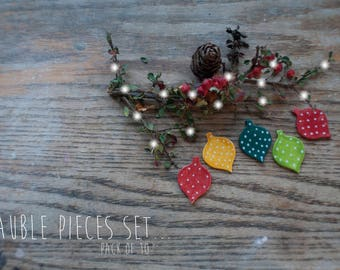 Christmas Bauble Assortment Clay Pieces 2 (10x Pack)