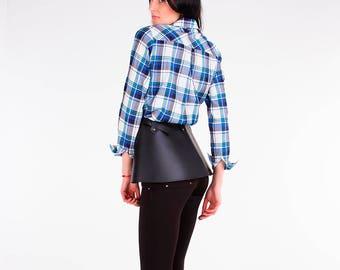 Leather fringe skirt,Vegan leather harness,Womens harness,Waist harness,Women skirt,,BDSM fetish,Black Leather Skirt,Mature toys