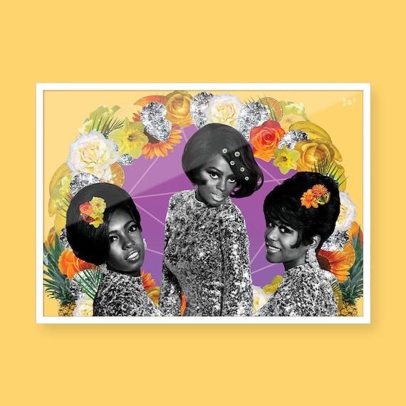 The Supremes Black Art Collage Art Black Girl Magic