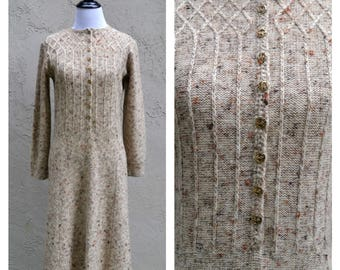 Vintage 1960's knit sweater dress, St john knits, Vintage dress, Sweater dress, gift for her, 1960's, Knit dress, wool dress, mad men