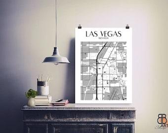 Las Vegas Poster, Las Vegas Art, Vegas, Las Vegas Print, Las Vegas Map, Las Vegas Gift Wall Decor, Map of Las Vegas, High Quality Poster