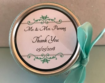 2 oz. Custom Wedding Favors 50 count
