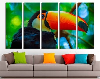 Toucan, Toucan art, Toucan canvas, Exotic bird art, Toucan wall art, Brazilian canvas, Brazilian art, Brazilian wall art, Brazilian decor