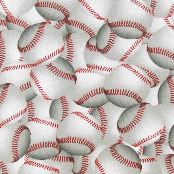 Baseball Fabric, 100% Cotton, Baseball Material, Quilting Fabric ... : baseball fabric for quilting - Adamdwight.com