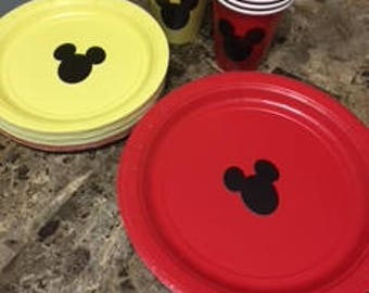 Mickey Mouse Party Plates & Cups