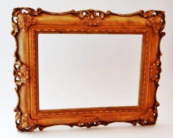 Wood Photo Frame, Wedding Photo Frame, Wooden Picture Frame, Wood Carved Frame, 5x7 Picture Frame, Rustic Photo Frame, 8x10 Frame, Wood Art