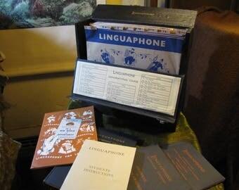 Vintage LP Language Course Sweden w 15 LPs, 5 Original Books, and Outstanding Original Case
