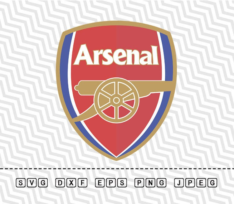 SVG Fc Arsenal Logo Vector Layered Cut File Silhouette Cameo Arsenal Logo Vector
