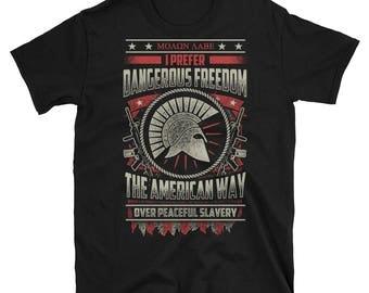 Dangerous Freedom | Gun Gifts | Gun Tshirt | Gun T shirt | Gun Shirt | Gun Lover | Gun Lover Gifts | Funny Gun Shirt | Funny Gun Tshirt
