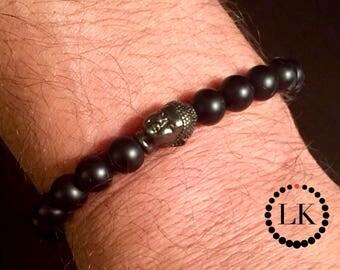 ESSENCE - Matte Black Onyx Buddha Bracelet
