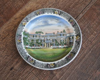 Home of Franklin D. Roosevelt, Hyde Park, N.Y. Plate - Old English Staffordshire Ware - Adams England - Jonroth England