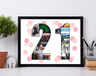 21 Personalized Poster, Gift For Girlfriend Ideas, Dorm Room Furniture, Gift  For Part 75