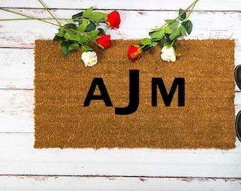 Monogram Door Mat Housewarming Doormat Personalized Welcome Doormat Engraved Welcome Doormat Coir Doormat & Coir doormat | Etsy pezcame.com