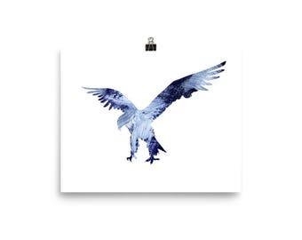 Bald eagle wall art, eagle poster, bald eagle prints, eagle decor, eagle art, eagle gift, bald eagle canvas print, eagle painting, artwork