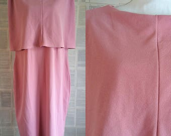 Pink 1950s Style Plus Size Evening Dress - Size 24