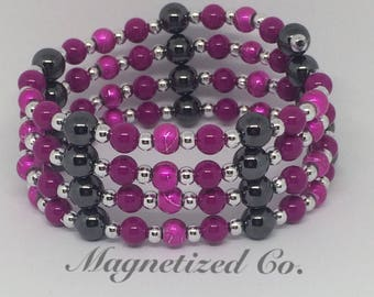 Deep Fuchsia Magnetic Bracelet & Necklace