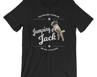 Jack Russell Terrier Funny UNISEX T-Shirt Jumping Jack Shirt