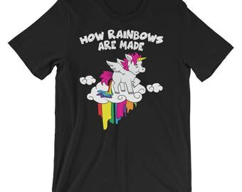 Farting Unicorn Shirt How Rainbows Are Made UNISEX T-Shirt Gift