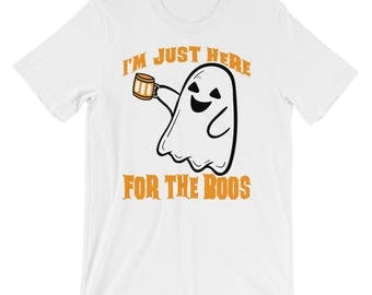 I'm just here for the Boos UNISEX T-Shirt Beer Drinking Halloween Shirt