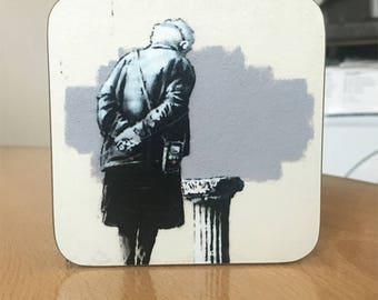 Banksy Coaster #50 - Banksy Gift - Banksy Coaster - Custom Coaster -Gift for Her - Gift For Him - Fridge Magnets - Banksy Magnet - Souvenir