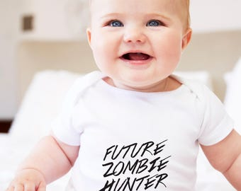zombie gifts, zombie hunter, zomibe grow suit, zombie baby, zombie, zombie hunter romper