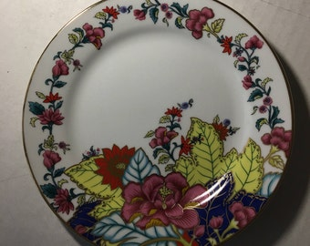 """Four Salad Plates 7-5/8"""" Imperial Leaf Tobacco Leaf Pattern Made in China"""