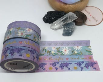 "SUB BOX Simply Gilded Washi, Exclusive Design, VERY Limited samples, 24"" samples"