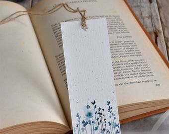 Two hand-painted watercolor bookmarks
