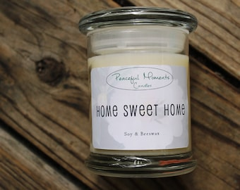 Home Sweet Home- Soy & Beeswax Candle