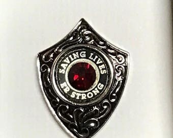 Emergency Nurse Pin, ER STRONG, A custom designed pin honoring our Emergency Nurses... Recognizing their undying strength