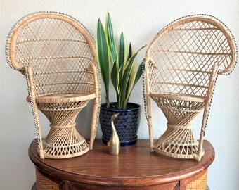 Mini Peacock Chair / Mini Boho Chair
