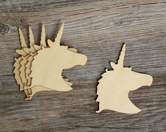 Unicorn Shape,wooden unicorn,plain wood Embellishments for Craft ,DIY Crafting Wood laser cut gift tags