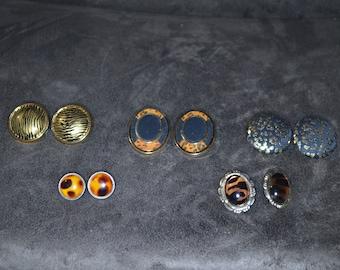Lot of Five Beautiful Vantage Earrings