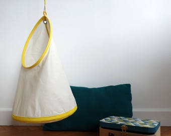 Children hanging storage - large - yellow