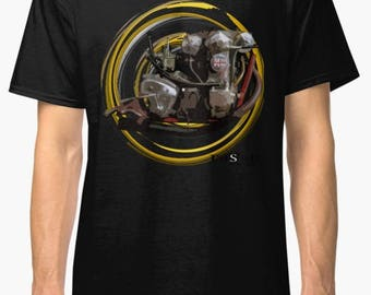 1959 LCH 125cc inspired Motorcycle engine TShirt INISHED Productions