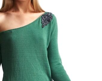 Maxima Drop Shoulder - Organic Pima Cotton Sweater