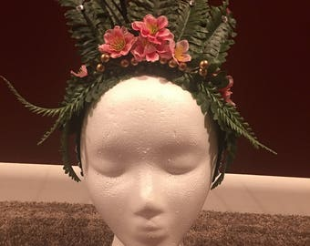 Floral Cosplay Headdress (recommended small)
