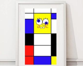 Piet Mondriaan/SpongeBob