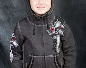 "Hoody Kid's ""Gothic Cross"""
