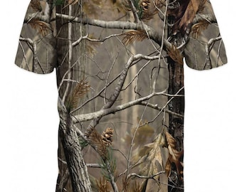 T-shirt 3d short sleeve hunting-Realtree camo-Fishing