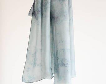 shibori silk scarf / Sublunary Blue