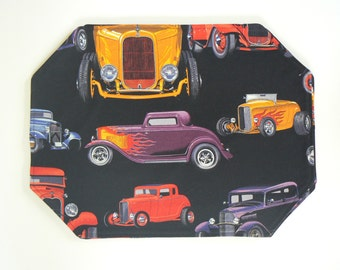 Antique Car Placemats, Car Enthusiast Placemats, Father's Day Gift