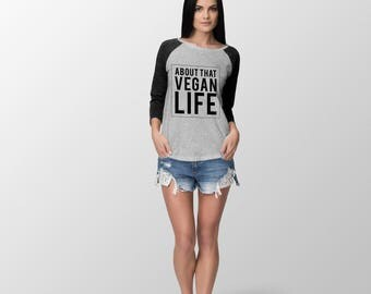 Loose or Tight Fit - About That Vegan Life Baseball Jerseys