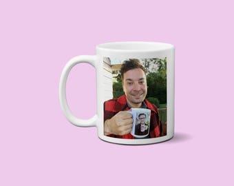 Jimmy Fallon and Justin Timberlake Coffee Mug Ew Mug Late Night Show Inception Coffee Mug Mrs Justin Timberlake Design 100