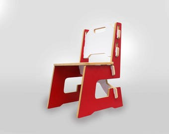 toddler chair, Kids chair, Childs chair, Red, Rojo, taburete, pupitres, sillas para, mesa, montessori furniture