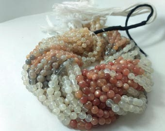 13 Inch Multi Moonstone Plain Round Ball Beads Strand - Moonstone Beads - Moonstone Balls - Natural Moonstone Beads - Moonstone Round Beads