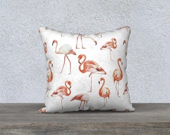 """Flamingo"" pillow decorative pillow cover for children, kids room decoration, home decor, Flamingo pillow baby pink"