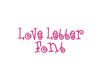 Embroidery Love Letters Font Comes In 4 sizes And 10 Formats